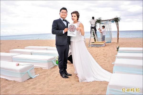 恆春鎮公所將推出全台首創的居民結婚補助,設籍鎮民結婚,每對最多可領兩萬元。(記者蔡宗憲攝)