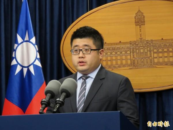 總統府發言人林鶴明表示,公投法修法列為執政黨優先法案。(資料照,記者李欣芳攝)