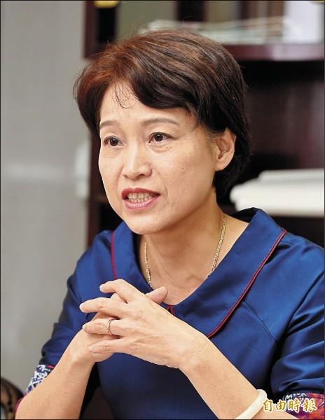 考選部長蔡宗珍。(記者羅沛德攝)