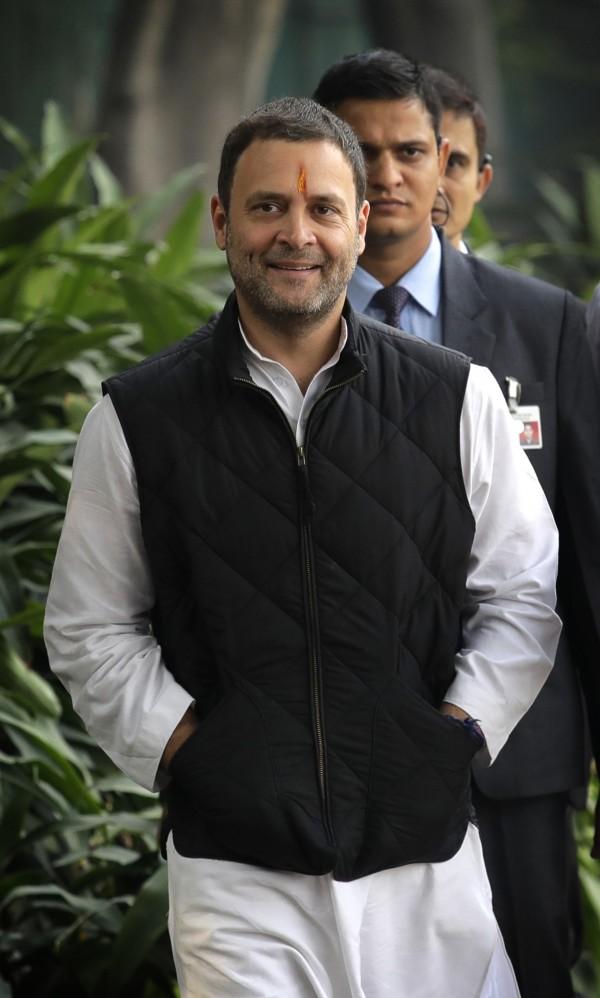 拉胡爾‧甘地今天當選國大黨黨主席,預計在16日從現任黨主席桑妮雅‧甘地手中接棒,延續家族在政治上的勢力。(美聯社)