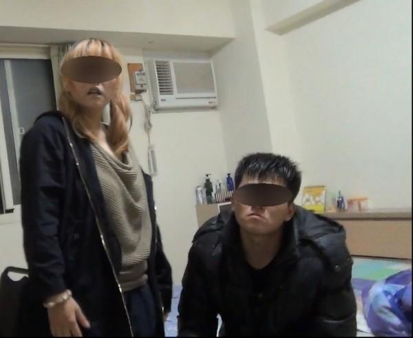 警方於劉女(圖左)與陳男(圖右)租屋處查獲槍彈,劉女辯稱罹患血癌而吸毒止痛。(記者張瑞楨翻攝)