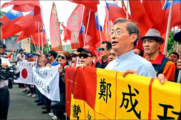 中華統一促進黨,近來在街頭聚眾滋事,未來若被認定是組織犯罪,最重可判刑十年、併科一億元罰金。(資料照)