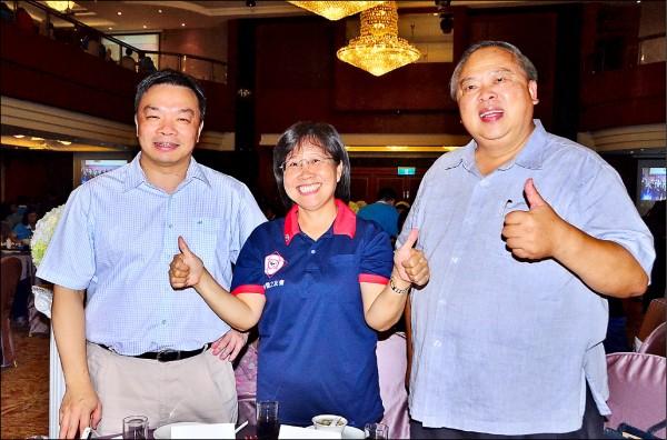 被視為藍營台南市長可能參選者的國民黨前立委高思博(左起)、台南大學前校長黃秀霜與前市警局長陳子敬,今年九月間出席一場餐敘試水溫。(資料照)