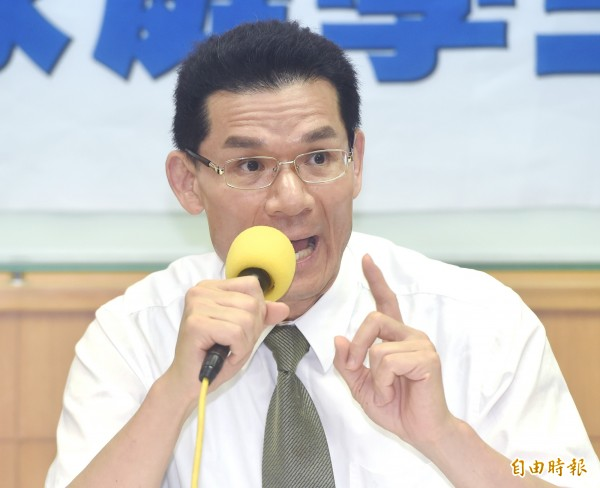 護家盟秘書長張守一表示,大法官同婚釋憲違憲。(資料照,記者廖振輝攝)