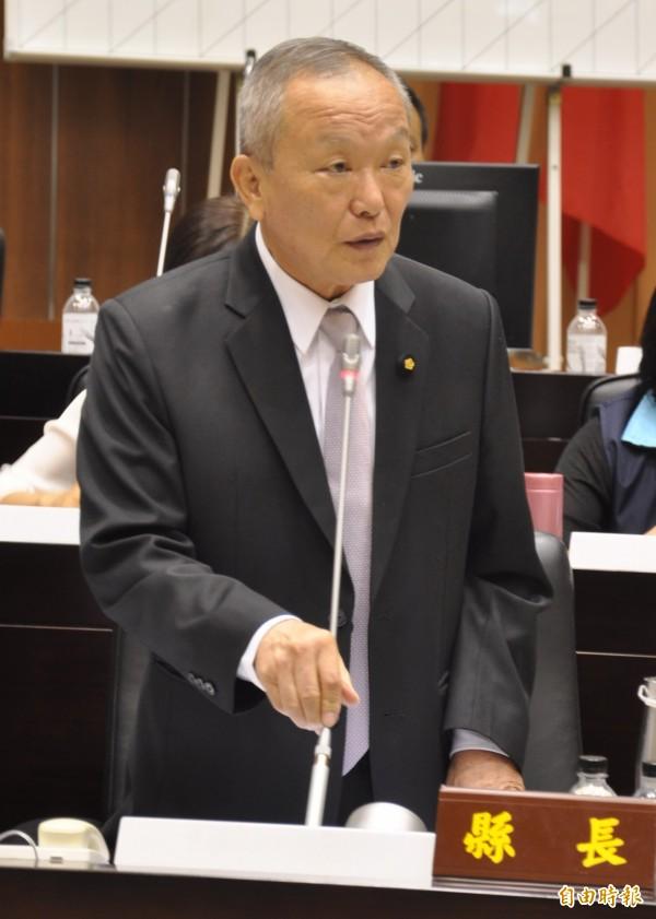 中國國民黨中常會今天通過明年縣市長選舉首波提名,苗栗縣長徐耀昌順利獲得徵召。(記者彭健禮攝)