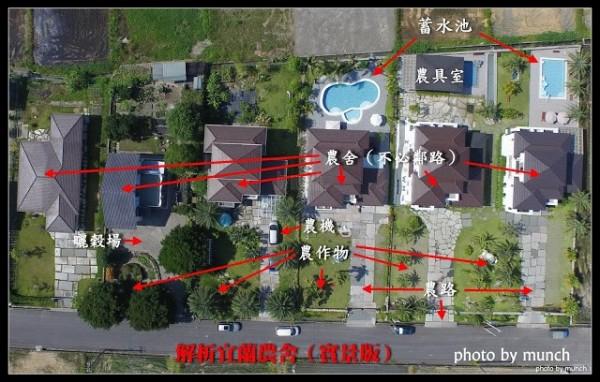 部落客漂浪島嶼一張圖解析宜蘭農舍怎麼蓋。(漂浪島嶼提供)