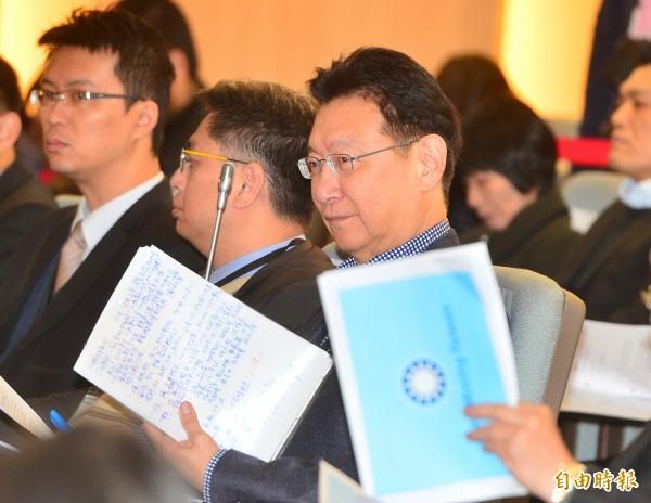 不當黨產處理委員會舉行「中廣是否為社團法人中國國民黨之附隨組織」聽證會,中廣董事長趙少康出席。(記者王藝菘攝)
