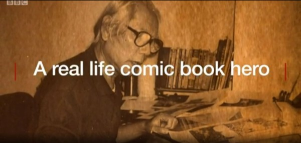 《BBC》以「台灣的漫畫英雄」專訪台灣國寶級漫畫家許貿淞。(圖取自《BBC》影片截圖)