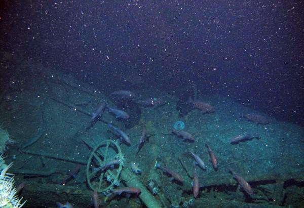搜索小組使用水下無人機在海床上方約40公尺搜尋,在水深300多公尺處找到沉船。(美聯社)