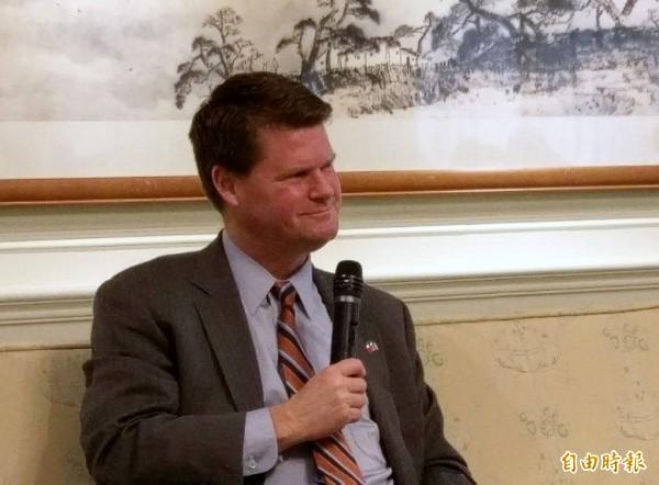 美國參院通過薛瑞福出任亞太事務助理部長,圖為薛瑞福今年3年率團訪台時的畫面。(資料照,記者呂伊萱攝)