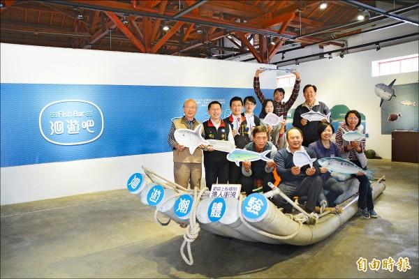 「洄遊吧」團隊在花蓮文化創意產業園區洄遊館辦展覽,除分享七星潭定置漁業文史影像紀錄,還將邀請漁人分享捕魚故事。(記者王峻祺攝)