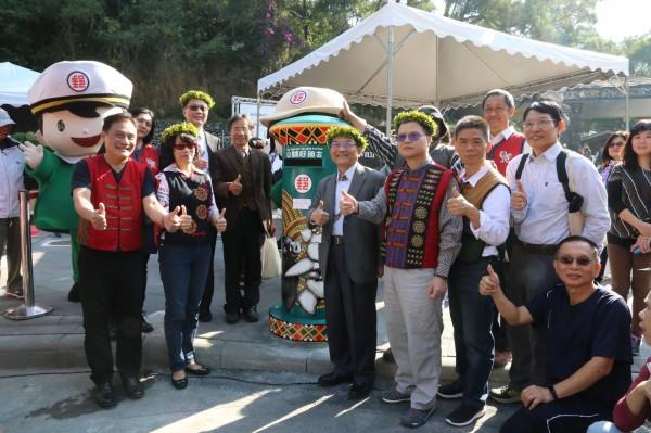 「山林好朋友郵筒」在台灣原住民族文化園區啟用。(記者羅欣貞翻攝)