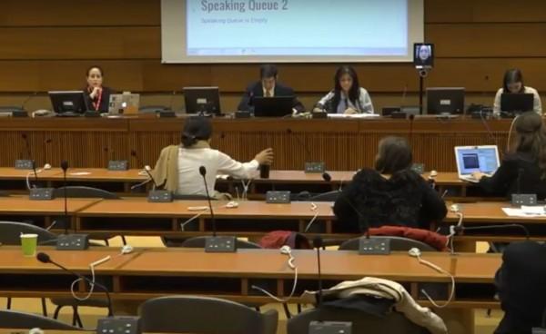 我國政委行政院政務委員唐鳳受邀到聯合國網路治理論壇(IGF)發言,但卻被中國打壓無法出席,唐鳳利用「數位機器人」直播成功突破。(圖擷取自YouTube)