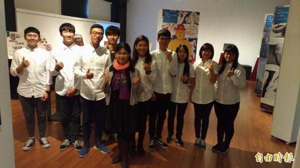 虎尾科技大學多媒體設計系成果展,呈現學生的學習能量及創意。(記者廖淑玲攝)
