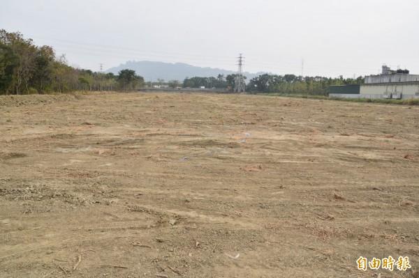 新建岡山魚市場基地近2公頃,建成後將與肉品、家禽市場相鄰,成為全國最大農漁產批發中心。(記者蘇福男攝)