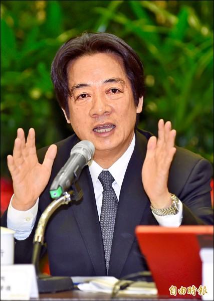 行政院長賴清德昨在年終記者會上宣示,台灣要有前瞻移民政策,明年將擬定新的移民法規,將移民政策獨立立法。(記者劉信德攝)