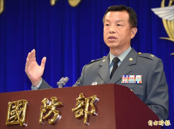 國防部發言人陳中吉。(資料照,記者劉信德攝)