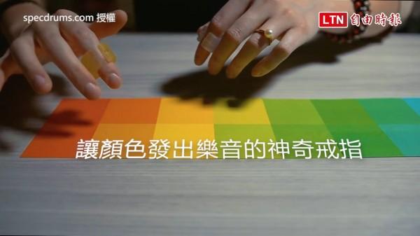 戴上音樂指環,就能讓顏色變身為旋律。(授權:specdrums.com)