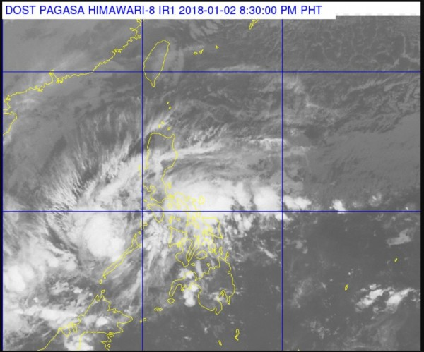 菲律賓今日又遭到熱帶低氣壓橫掃,造成2人死亡,數千人因強風、洪水被迫撤離。(圖擷取自PAGASA)