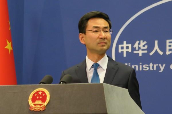 被美媒指未要求北韓放棄核武,耿爽駁斥「一句話,fake news(假新聞)。」(中央社)