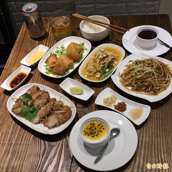 「梵泰蔬食」無蛋、無五辛,卻能做出不像素食的泰式料理,讓客人一再回流,驚嚐美味的異國料理。(記者廖雪茹攝)