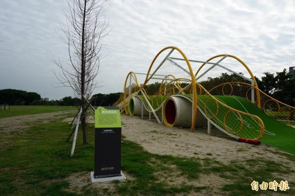 去年的兒童藝術節以「風的運動場」為主題,在樹林頭公園舉行,遊具「風兒滾滾來」留在原地繼續放送歡樂。(資料照,記者洪美秀攝)