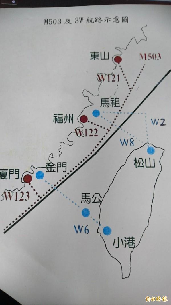 軍事專家施孝瑋認為,中方在台海開闢三條銜接M503的新航路,確實會造成我方防空識別的壓力。(記者鍾麗華攝)