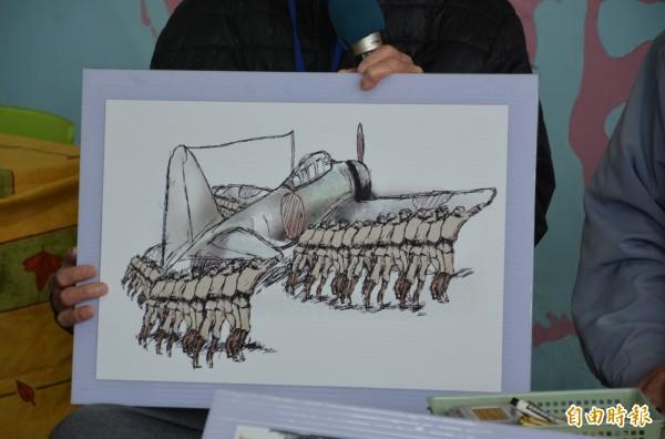 日治時期擔任日本兵的台灣人,先後在南埔機場(今花蓮空軍防空學校)、北埔機場「推飛機」,一天最多3趟,每日均與30多人往來機場及山邊。(記者王峻祺攝)