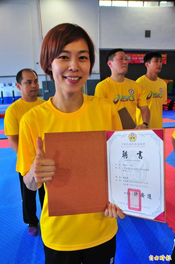 跆拳道奧運金牌得主陳詩欣,去年被爆偷吃已婚老戰友陳正浩,還被目睹上摩鐵,震驚全台。(資料照,記者花孟璟攝)