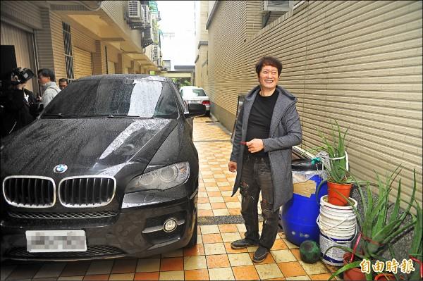 本土劇知名男演員黃仲裕涉開BMW酒駕車禍,找人頂罪被起訴。(記者王捷攝)