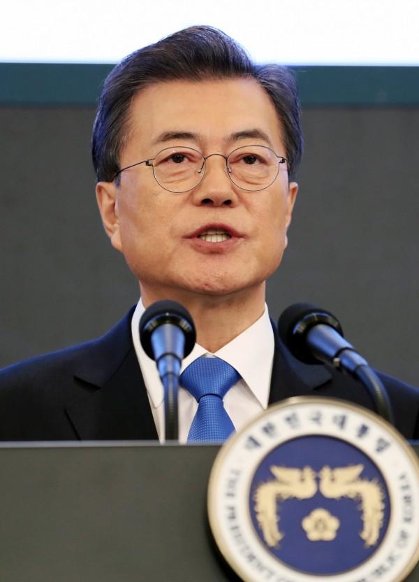文在寅表示,時機若對,願意和北韓進行首腦會談。(歐新社)