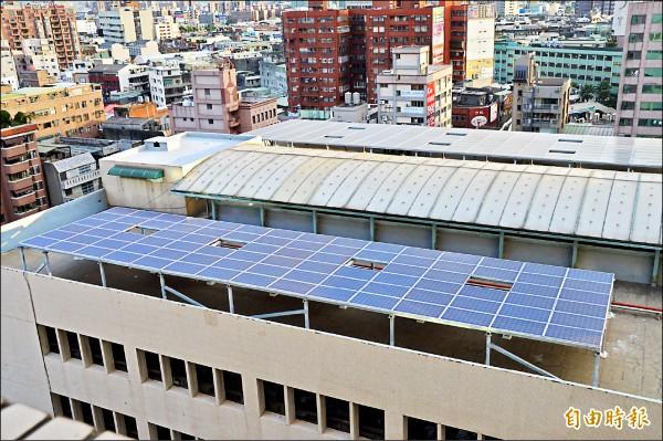 發展太陽能產業,市府找來華南銀行,提供桃園企業200億元貸款。(記者謝武雄攝)