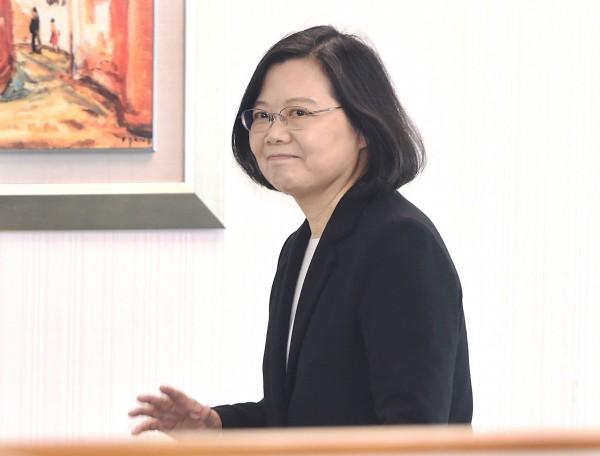 總統兼民進黨主席蔡英文17日出席主持民進黨中常會。(記者廖振輝攝)