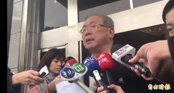 蘇炳坤到最高法院出庭,希望合議庭還他清白。(記者項程鎮攝)