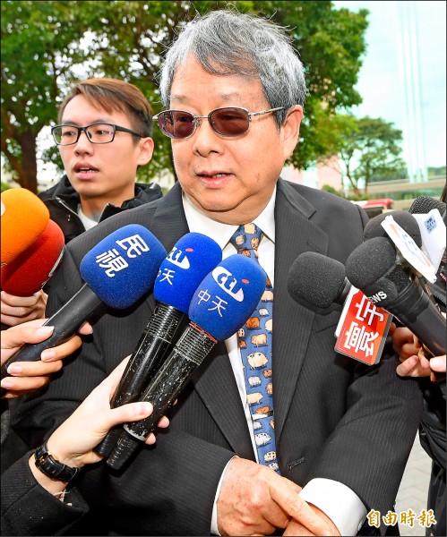監察院昨日舉行新任監委談話會,監委陳師孟受訪表示,他的第一志願是司法及獄政委員會。(記者方賓照攝)