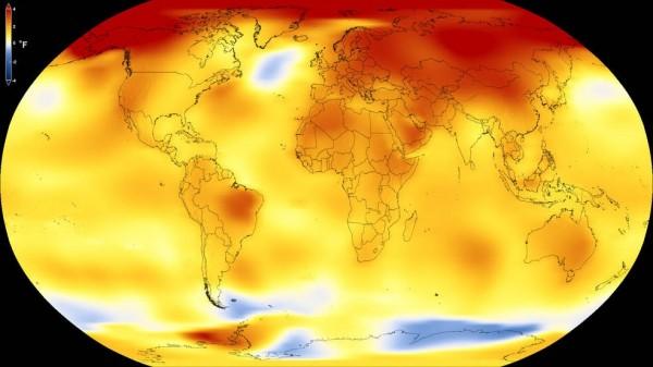 NASA)發表報告指出,去年2017年全世界的平均氣溫,為人類觀測氣溫史上第二高的一年,而且該年還沒有出現聖嬰現象。(圖取自NASA)