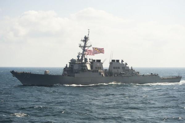 美國驅逐艦霍珀號(Hopper)日前進入黃岩島12海里內海域,遭到中國驅逐與譴責,聲稱擁有黃岩島主權的菲律賓今日表示,菲國不會介入美、中間的糾紛。(圖取自http://www.navy.mil)