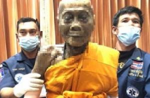 泰國華富里府高僧龍婆偏圓寂2個月後,肉身不壞。(取自網路)