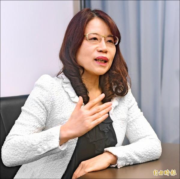 黨產會委員饒月琴(記者廖振輝攝)