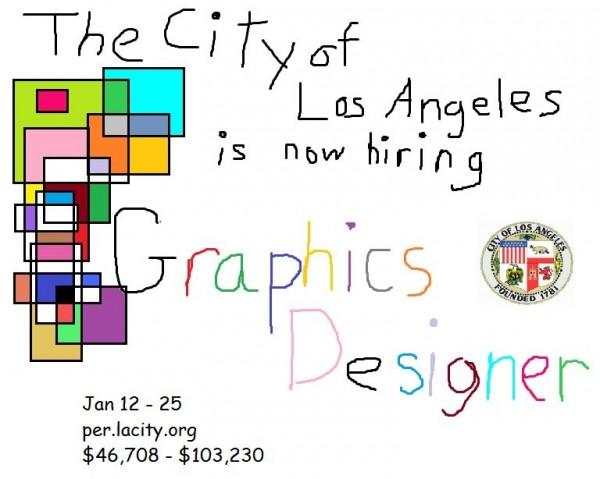 洛杉磯政府的徵才廣告因為太有特色,引來眾多網友的討論。(圖擷自CityLosAngeles-Jobs推特)