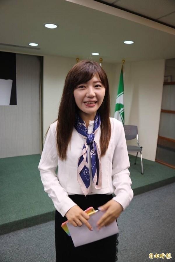 前民進黨發言人吳沛憶投入台北市中正萬華議員選舉。(資料照,記者蘇芳禾攝)