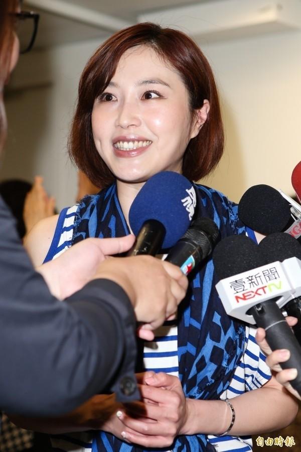 余天女兒余筱萍參選中正、萬華區議員。(資料照,記者陳逸寬攝)