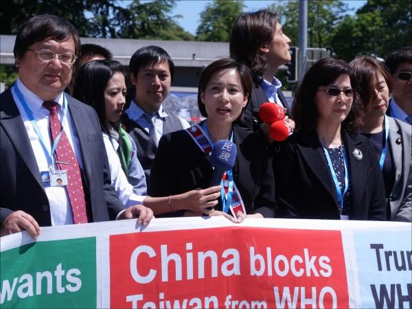 世界衛生組織(WHO)召開執委會,包括美國、日本等國發言,支持台灣以觀察員身分參與世界衛生大會(WHA);圖為去年世衛大會開幕,民團齊聚國際廣場宣達台灣盼望加入世衛組織訴求。(資料照)