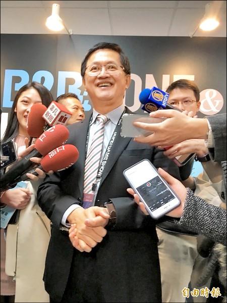 台北國際電玩展昨盛大開幕,台北市電腦公會理事長童子賢指出,台灣人才多、環境佳,是電競產業的沃土。(記者吳柏緯攝)