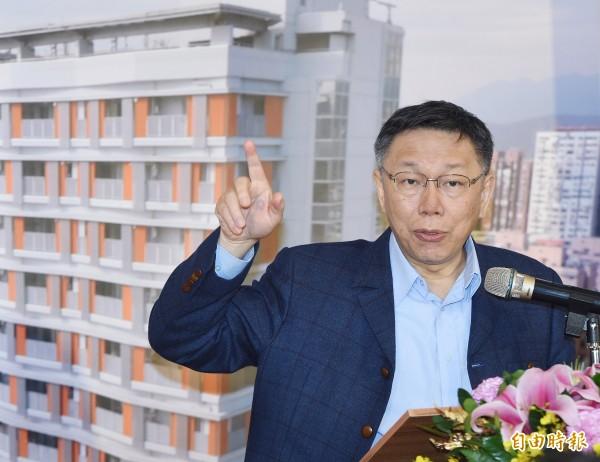 台北市長柯文哲明將出訪歐洲11天。(記者廖振輝攝)