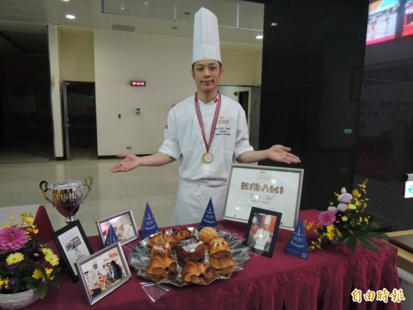 苗栗子弟陳有鋕學做麵包21年,奪下世界麵包大賽亞軍,為台灣爭光。(資料照,記者張勳騰攝)