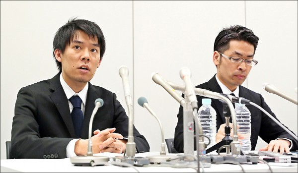 創辦coincheck的和田晃一良(左)。(美聯社)