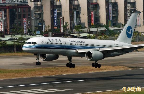 廈門航空今(30日)早發表聲明,表示無法持續等待台灣的答復,將被迫取消70班春節加班機。(資料照)