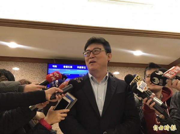 姚文智今天上午受訪表示,有姚立明的加入,有把握把國民黨的丁守中打成第三名。 (記者蘇芳禾攝)