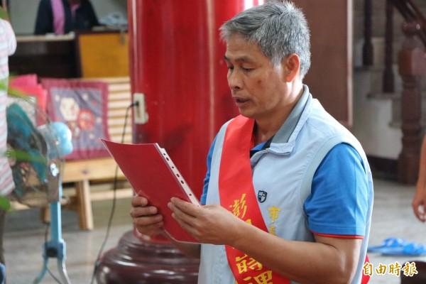 馬公市長葉竹林堅持參選到底,不惜脫黨競選,讓國民黨整合不易。(記者劉禹慶攝)